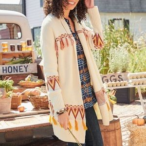 Matilda Jane Gingersnap Cardigan Sweater Fringe